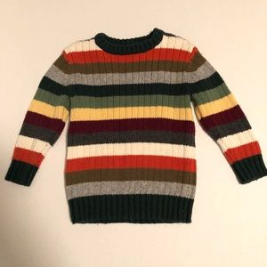 Baby Gap Colorblock Striped Sweater Green Orange